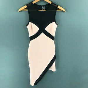 Windsor womens black and Pink Bodycon Dress, S